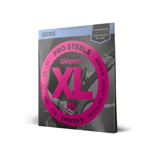 D'Addario EPS 170/5 Pro Steels struny do gitary basowej pięciostrunowej 45-130