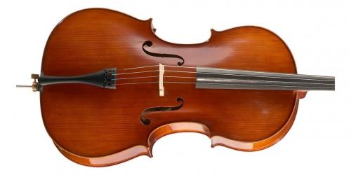 Hoefner AS-185C 4/4 Student wiolonczela w zestawie ze smyczkiem i pokrowcem
