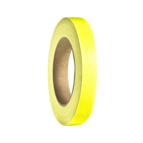 Adam Hall Accessories 58064 NYEL - Taśma klejąca Gaffer, żółta neonowa, 19 mm x 25 m