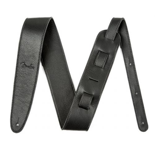 Fender Artisan Crafted Leather Strap, 2.5″ Black pasek gitarowy