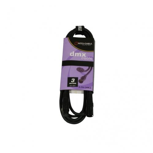 Accu Cable przewód DMX 5pin 110 Ohm 3m