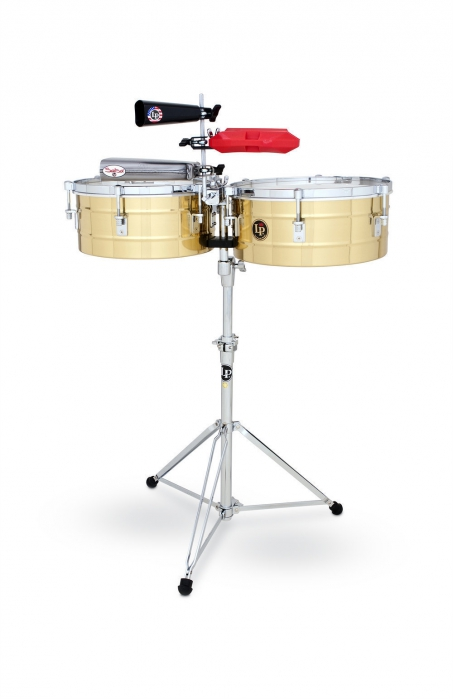 Latin Percussion Timbalesy Tito Puente Solid Brass 12″/13″