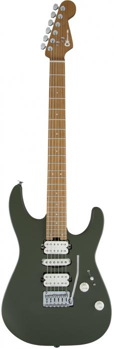 Charvel DK24 HSH 2PT CM Matte Army Drab gitara elektryczna - poekspozycyjna