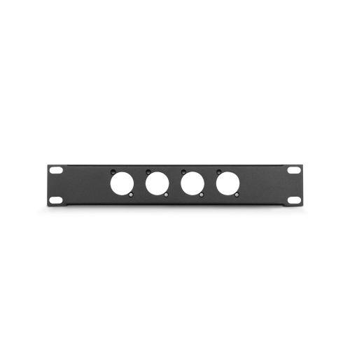 Adam Hall Parts 862215 - Panel z otworami do szafy rack w ksztacie litery U, 9,5′′, 1U, z uchwytem kablowym odciajcym, dla 12 gniazd