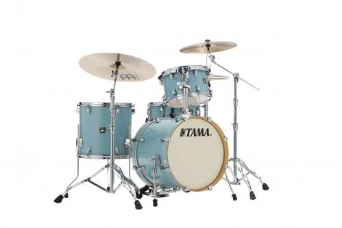 Tama Shell Kit4 Superstar Maple Light Emerald blue green + MM5WN Hardwarekit zestaw perkusyjny