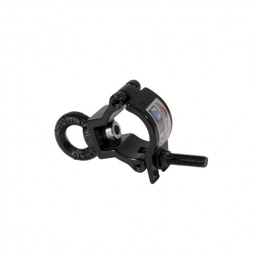 Duratruss Jr Eye Clamp Black obejma 75kg -  hak aluminiowy - obejma na rur fi 35mm czarna z oczkiem