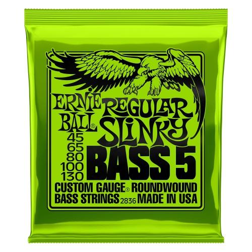 Ernie Ball 2836 NC 5's Regular Slinky Bass struny do gitary basowej 45-130