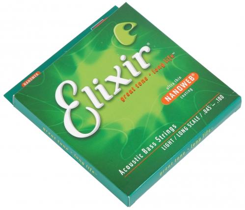 Elixir 14502 NW L4A struny do gitary basowej akustycznej  45-100