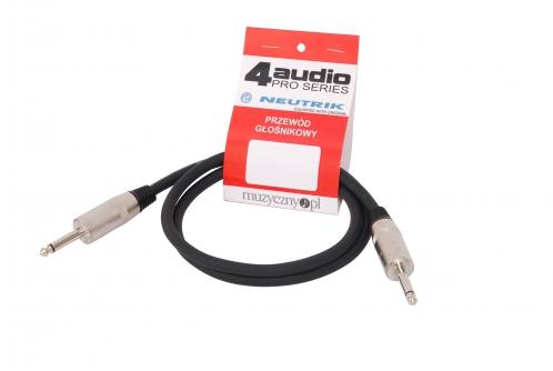 4Audio LS2250 1m przewód głośnikowy 2x2,5mm z Jackiem (TS)
