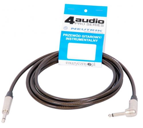 4Audio GT1075 3m przewód gitarowy Jack kątowy Jack