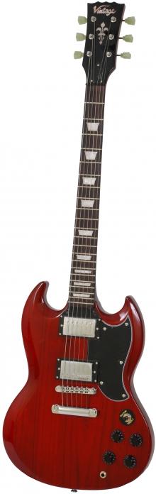 Vintage VS6CR gitara elektryczna Cherry Red