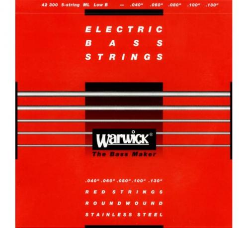 Warwick 42300 Red Lab Stainless Steel struny do gitary basowej 40-130