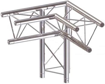 DuraTruss DT 23 C34-LD 3way corner 90st element konstrukcji aluminiowej - narożnik lewy