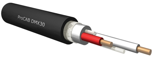 Procab DMX30 kabel DMX 110 Ohm 1-parowy