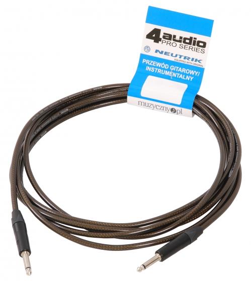 4Audio GT1075 4.5m przewód gitarowy Jack Jack czarne złącza