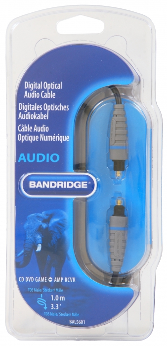 Bandridge BE BLUE cyfrowy przewód optyczny toslink - toslink 1.0 m