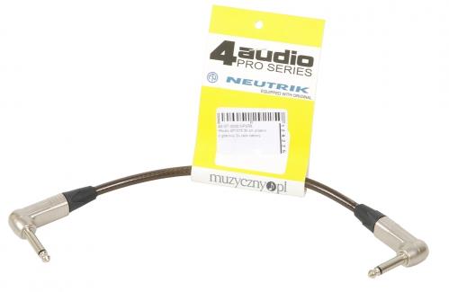 4Audio GT1075 30 cm przewód gitarowy 2x Jack kątowy