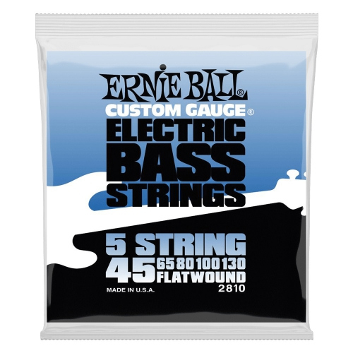 Ernie Ball 2810 Flatwound Bass struny do gitary basowej 5  45-130