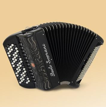 Paolo Soprani Internazionale 120  46(87)/4/11  120/5/5 Musette akordeon guzikowy (czarny)