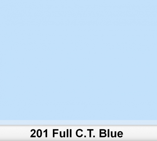 Lee 201 Full C.T.Blue filtr barwny folia - arkusz 50 x 60 cm