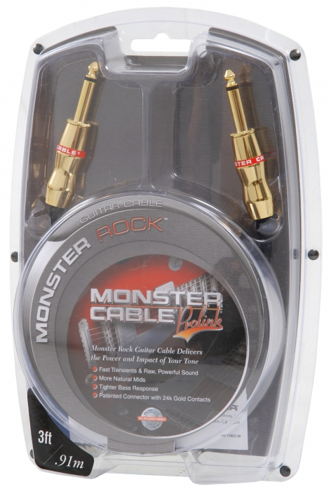 Monster Rock 3 kabel gitarowy 91cm J-J