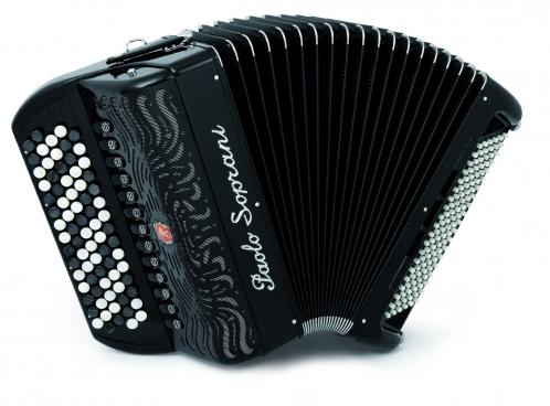 Paolo Soprani Internazionale 120C Cassotto (2+2)  46(87)/4/13+M 120/5/7 Musette akordeon guzikowy (czarny)