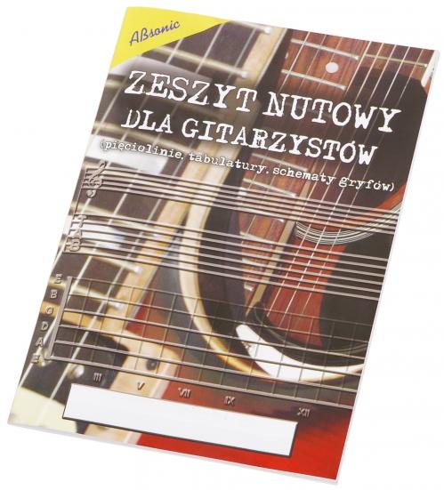 AN Zeszyt nutowy dla gitarzystów B5, 16 stron