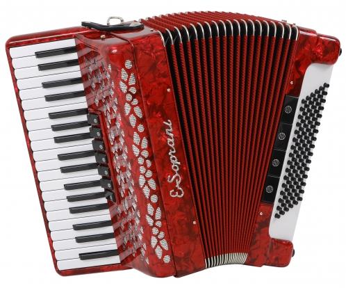 E.Soprani 969 KK  37/3/7 96/5/4 akordeon (czerwony)