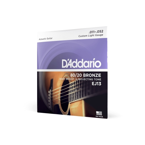 D′Addario EJ-13 struny do gitary akustycznej 80/20 Bronze 11-52