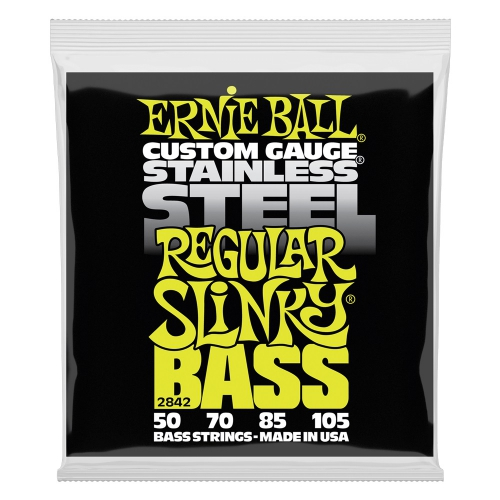 Ernie Ball 2842 Stainless Steel Bass struny do gitary basowej 50-105