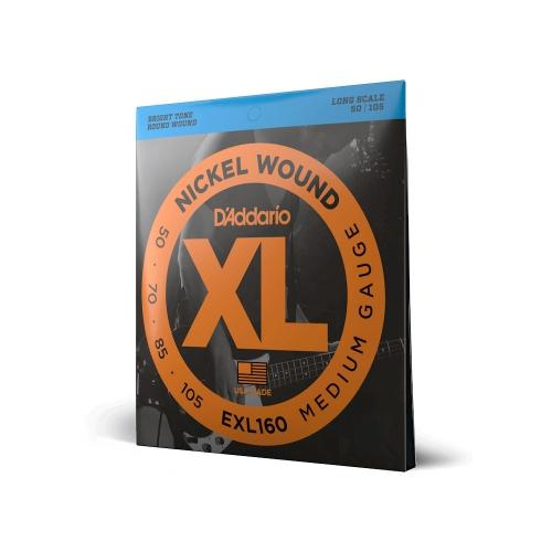 D'Addario EXL 160 struny do gitary basowej 50-105