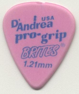 D′Andrea 351 Pro Grip Brites 1.21mm kostka gitarowa