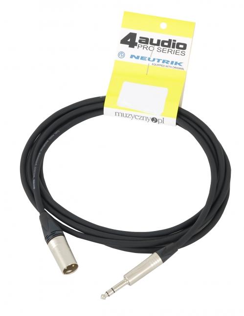4Audio MIC2022 PRO 1,5m przewód symetryczny XLRm TRS Neutrik