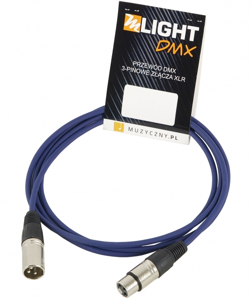 MLight DMX 1 pair 110 Ohm 3m przewód DMX 3-pin XLR XLR