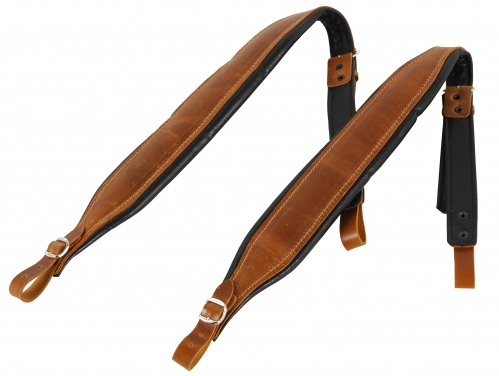 Filippe PA 80SK BR pasy do akordeonu 80-basowego / 96-basowego, skóra, kolor brązowy (para)