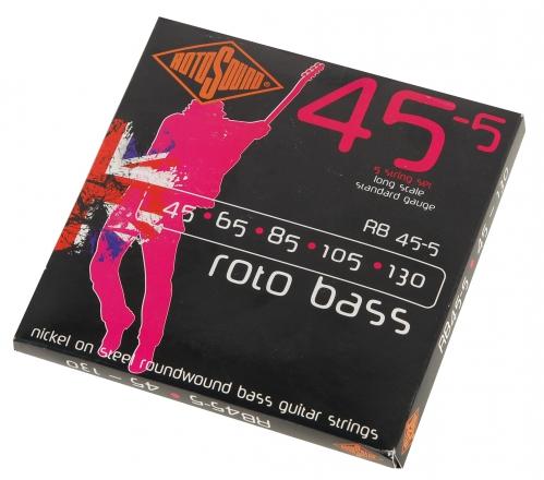 Rotosound RB 45-5 struny do gitary basowej 45-130