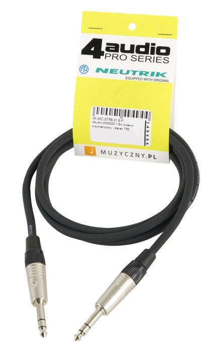 4Audio MIC2022 1,5m przewód symetryczny / stereo TRS TRS Neutrik