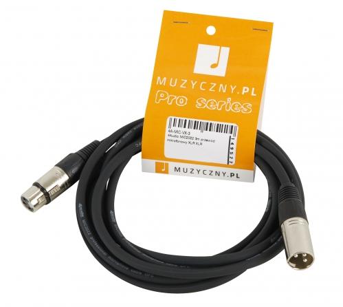 4Audio MIC 3m przewód mikrofonowy XLR-F - XLR-M