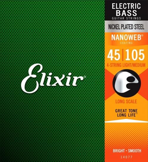 Elixir 14077 NW LS struny do gitary basowej 45-105