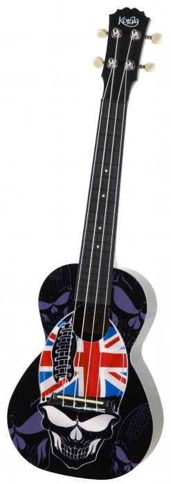 Korala PUC 30-004 ukulele koncertowe Skull Union Jack Hat