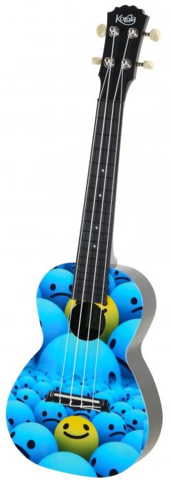 Korala PUC 30-013 ukulele koncertowe Yellow&Blue Smile