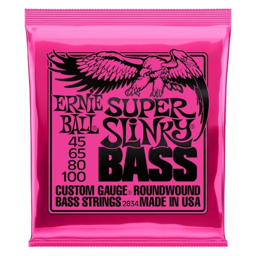 Ernie Ball 2834 NC Super Slinky Bass struny do gitary basowej 45-100