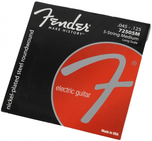 Fender 72505M-5 nickel plated struny do  gitary basowej 45-125