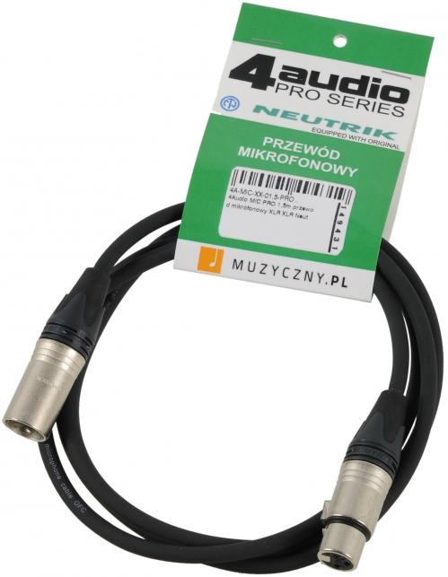 4Audio MIC PRO 1,5m przewód mikrofonowy XLR-F - XLR-M Neutrik
