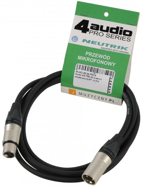 4Audio MIC PRO 2m przewód mikrofonowy XLR-F - XLR-M Neutrik