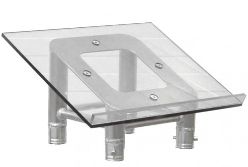 DuraTruss DT 34-LCT-PLEXI element konstrukcji aluminiowej - blat mównicy