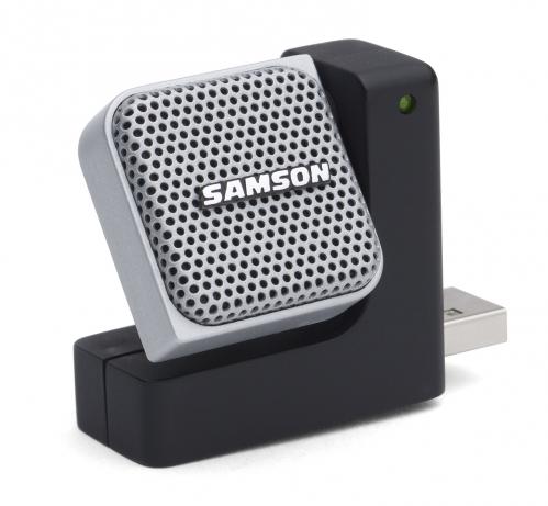 Samson Go Mic Direct USB przenośny, uniwersalny mikrofon USB, zmienna charakterystyka (Kardioida, Dookólny), pokrowiec, oprogramowanie