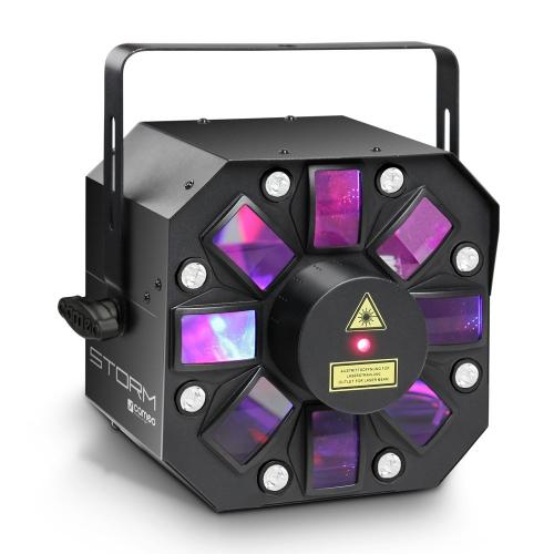 Cameo STORM - 3 w 1 efekt świetlny, 5 x 3W RGBAW flower LED, strobo i laser