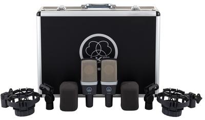 AKG C-214 Stereo Set zestaw stereo mikrofonów pojemnościowych w walizce