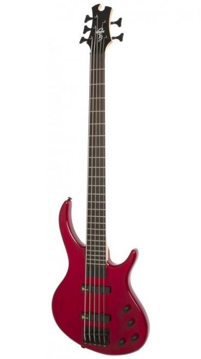 Epiphone Toby Deluxe V TR Translucent Red gitara basowa 5-strunowa